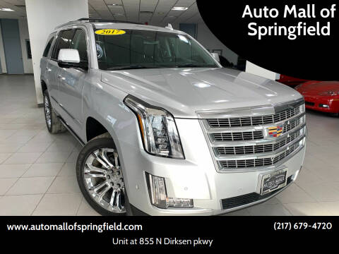 2017 Cadillac Escalade for sale at Auto Mall of Springfield north in Springfield IL