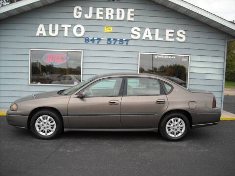 2003 Chevrolet Impala for sale at GJERDE AUTO SALES in Detroit Lakes MN