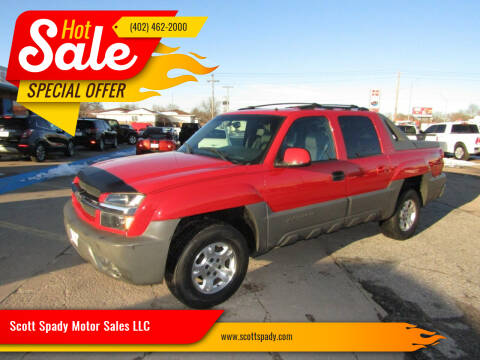 2002 Chevrolet Avalanche for sale at Scott Spady Motor Sales LLC in Hastings NE