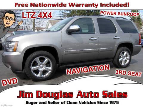 2012 Chevrolet Tahoe for sale at Jim Douglas Auto Sales in Pontiac MI