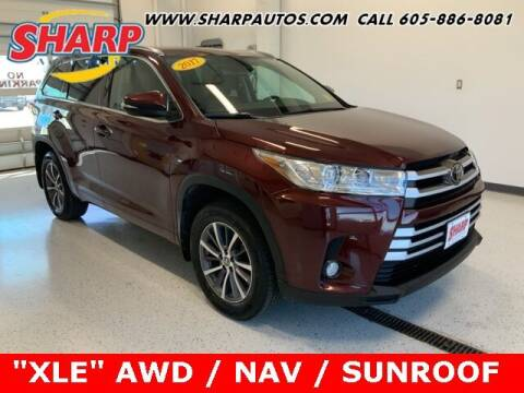 2017 Toyota Highlander for sale at Sharp Automotive in Watertown SD