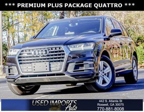 2018 Audi Q7 for sale at Used Imports Auto in Roswell GA