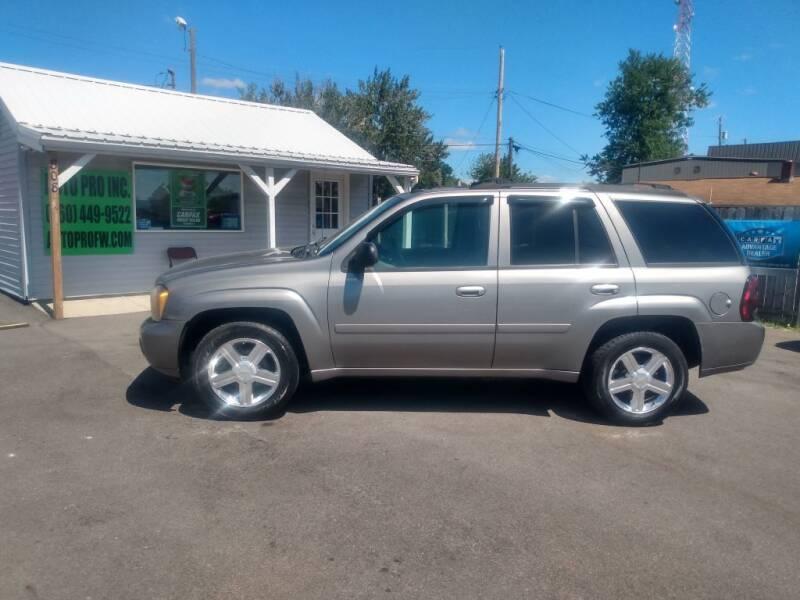 2008 Chevrolet TrailBlazer for sale at Auto Pro Inc in Fort Wayne IN