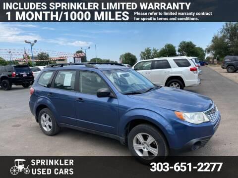 2011 Subaru Forester for sale at Sprinkler Used Cars in Longmont CO