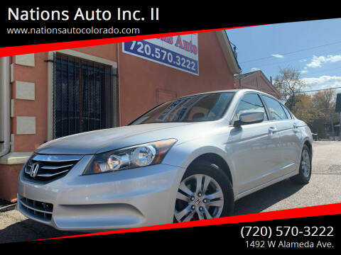 2012 Honda Accord for sale at Nations Auto Inc. II in Denver CO