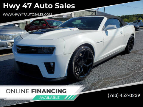 2013 Chevrolet Camaro for sale at Hwy 47 Auto Sales in Saint Francis MN