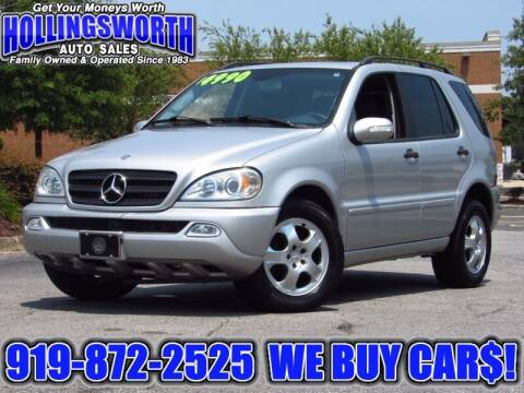 2004 Mercedes-Benz M-Class for sale at Hollingsworth Auto Sales in Raleigh NC
