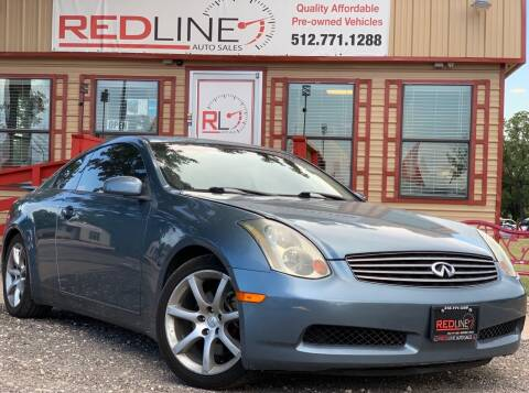 2005 Infiniti G35 for sale at REDLINE AUTO SALES LLC in Cedar Creek TX