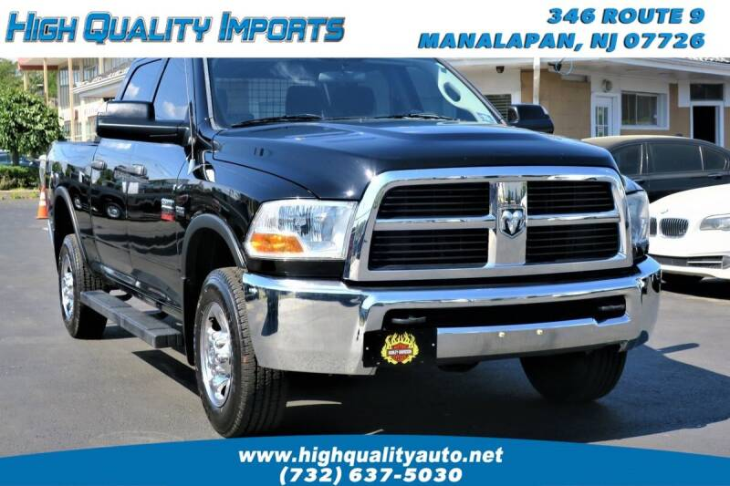 2012 RAM Ram Pickup 2500 for sale at High Quality Imports in Manalapan NJ