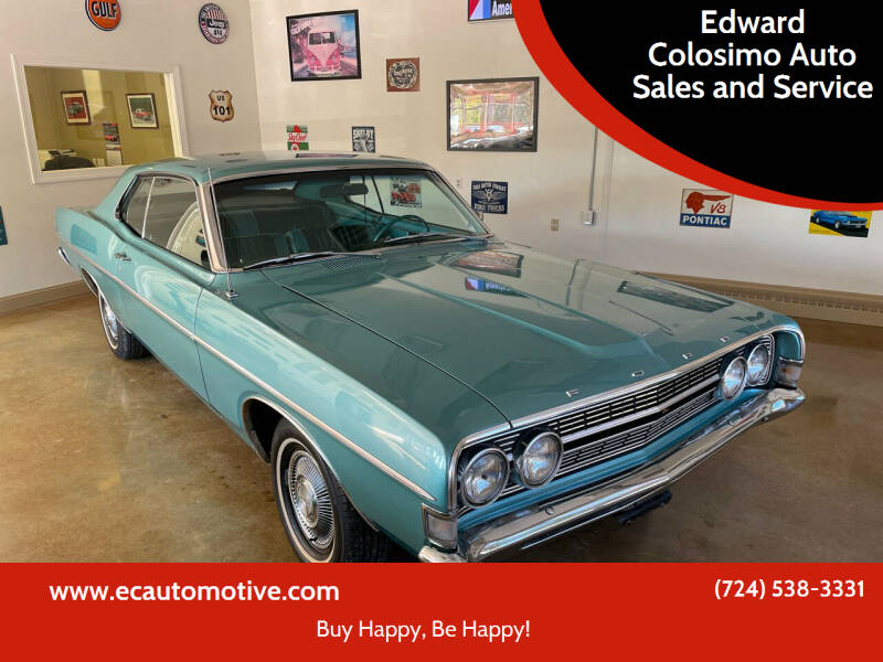 1968 Ford Fairlane 500 for sale at Edward Colosimo Auto Sales and Service in Evans City PA