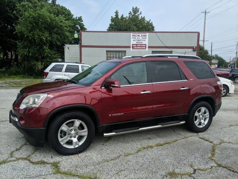 2008 GMC Acadia for sale at Richland Motors in Cleveland OH