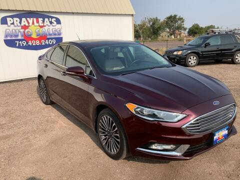 2017 Ford Fusion for sale at Praylea's Auto Sales in Peyton CO