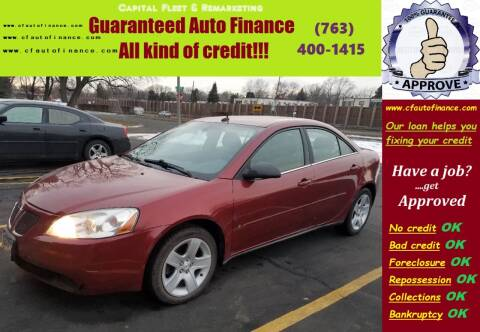 2008 Pontiac G6 for sale at Capital Fleet  & Remarketing  Auto Finance in Columbia Heights MN