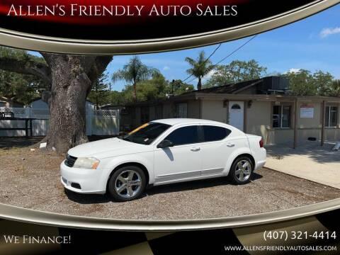 2012 Dodge Avenger for sale at Allen's Friendly Auto Sales in Sanford FL