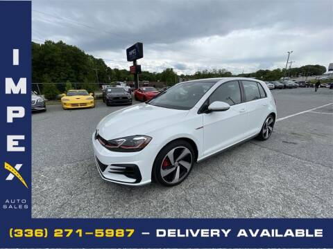 2019 Volkswagen Golf GTI for sale at Impex Auto Sales in Greensboro NC