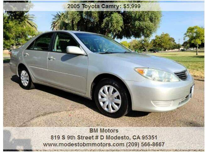 2005 Toyota Camry for sale at BM Motors in Modesto CA