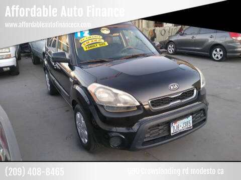 2012 Kia Soul for sale at Affordable Auto Finance in Modesto CA