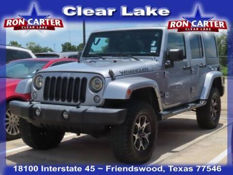 2018 Jeep Wrangler JK Unlimited for sale at Ron Carter  Clear Lake Used Cars in Houston TX