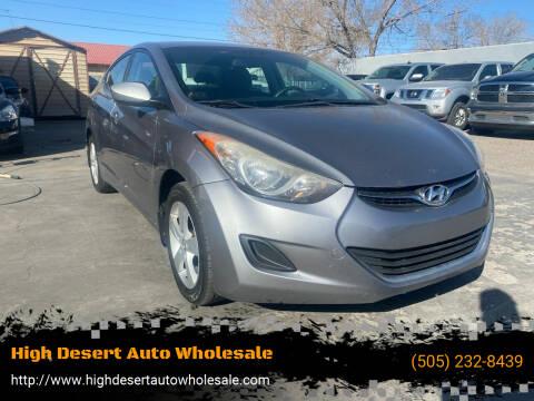 2011 Hyundai Elantra for sale at High Desert Auto Wholesale in Albuquerque NM