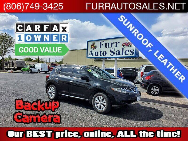 2012 Nissan Murano for sale at FURR AUTO SALES in Lubbock TX