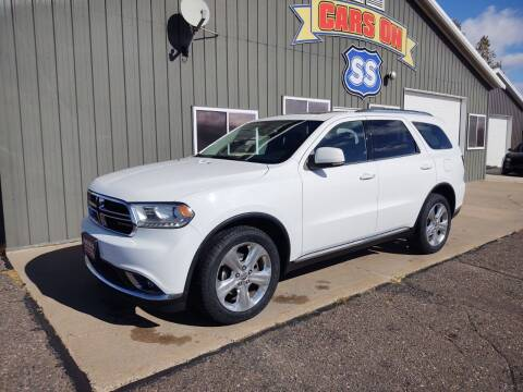 2015 Dodge Durango for sale at CARS ON SS in Rice Lake WI