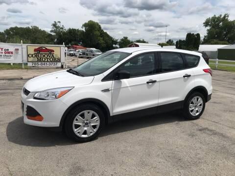 2016 Ford Escape for sale at Cordova Motors in Lawrence KS
