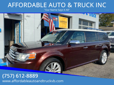 2012 Ford Flex for sale at AFFORDABLE AUTO & TRUCK INC in Virginia Beach VA