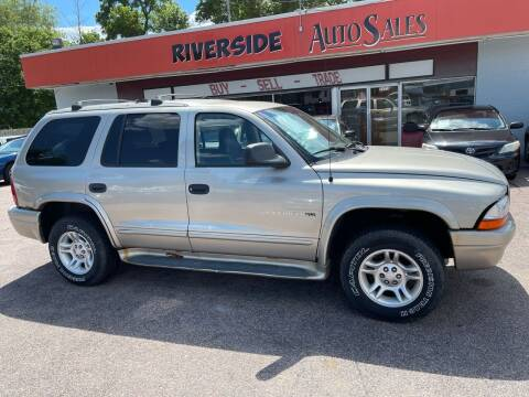 2001 Dodge Durango for sale at RIVERSIDE AUTO SALES in Sioux City IA