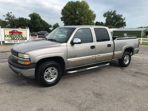 2002 Chevrolet Silverado 1500HD for sale at Cordova Motors in Lawrence KS
