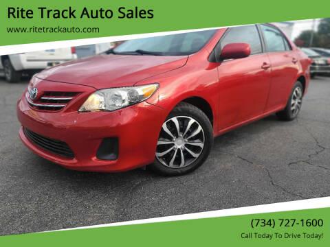 2013 Toyota Corolla for sale at Rite Track Auto Sales in Wayne MI