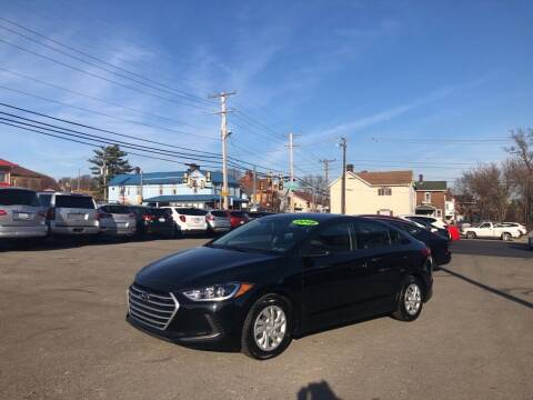 2018 Hyundai Elantra for sale at Sisson Pre-Owned in Uniontown PA