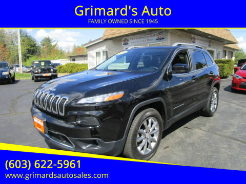 2018 Jeep Cherokee for sale at Grimard's Auto in Hooksett NH