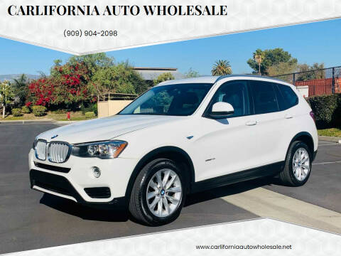 2017 BMW X3 for sale at CARLIFORNIA AUTO WHOLESALE in San Bernardino CA