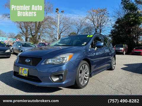 2013 Subaru Impreza for sale at Premier Auto Brokers in Virginia Beach VA