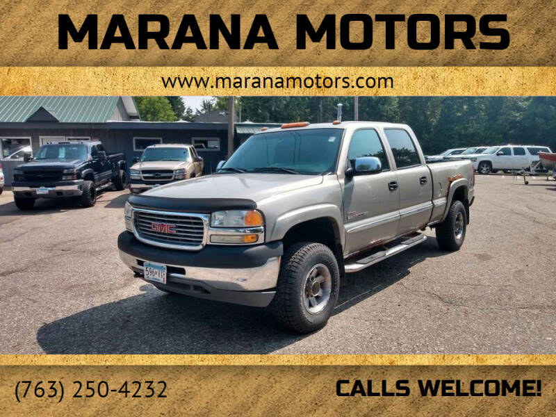 2002 GMC Sierra 2500HD for sale at Marana Motors in Princeton MN