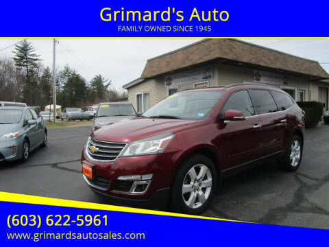 2016 Chevrolet Traverse for sale at Grimard's Auto in Hooksett, NH