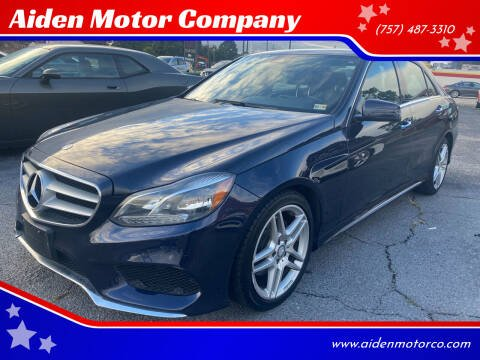 2016 Mercedes-Benz E-Class for sale at Aiden Motor Company in Portsmouth VA