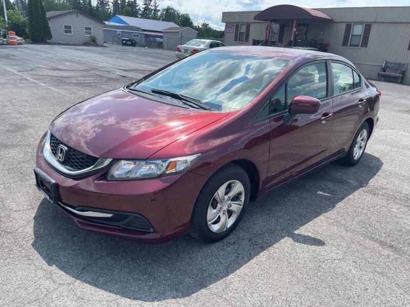 2014 Honda Civic for sale at Paul Hiltbrand Auto Sales LTD in Cicero NY