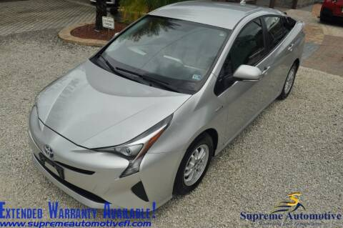 2016 Toyota Prius for sale at Supreme Automotive in Land O Lakes FL