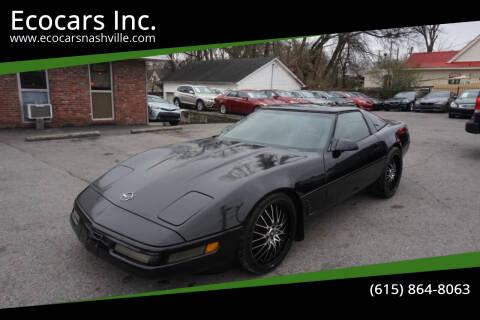 1996 Chevrolet Corvette for sale at Ecocars Inc. in Nashville TN