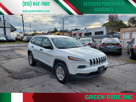 2014 Jeep Cherokee for sale at Green Ride Inc in Nashville TN