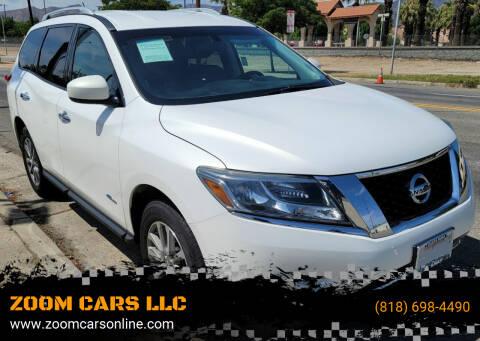 2014 Nissan Pathfinder Hybrid for sale at ZOOM CARS LLC in Sylmar CA