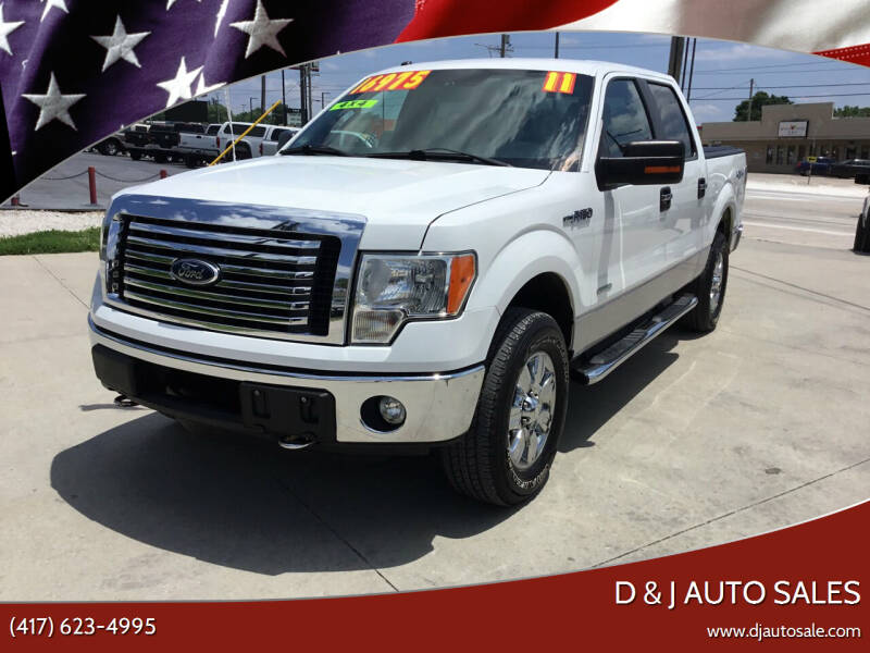 2011 Ford F-150 for sale at D & J AUTO SALES in Joplin MO