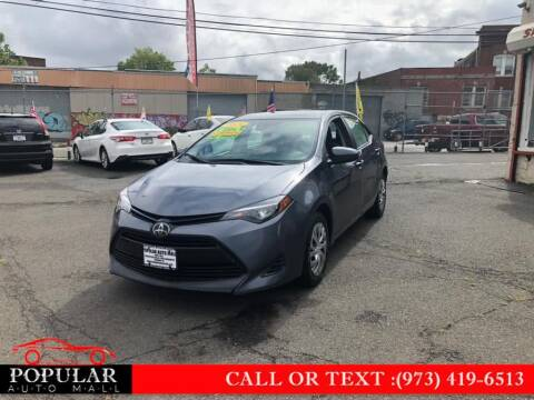 2019 Toyota Corolla for sale at Popular Auto Mall Inc in Newark NJ