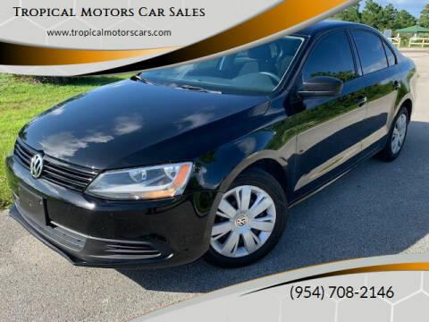 2012 Volkswagen Jetta for sale at Tropical Motors Car Sales in Deerfield Beach FL