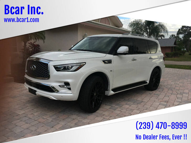 2018 Infiniti QX80 for sale at Bcar Inc. in Fort Myers FL