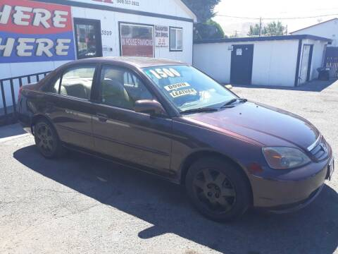 2001 Honda Civic for sale at J and H Auto Sales in Union Gap WA