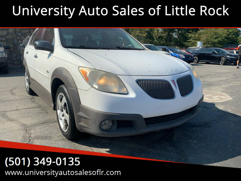 2006 Pontiac Vibe for sale at University Auto Sales of Little Rock in Little Rock AR