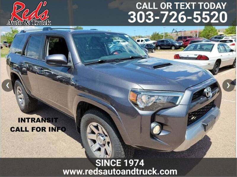 2016 Toyota 4Runner for sale at Red's Auto and Truck in Longmont CO