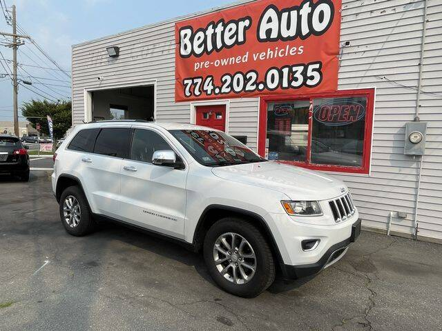 2014 Jeep Grand Cherokee for sale at Better Auto in Dartmouth MA